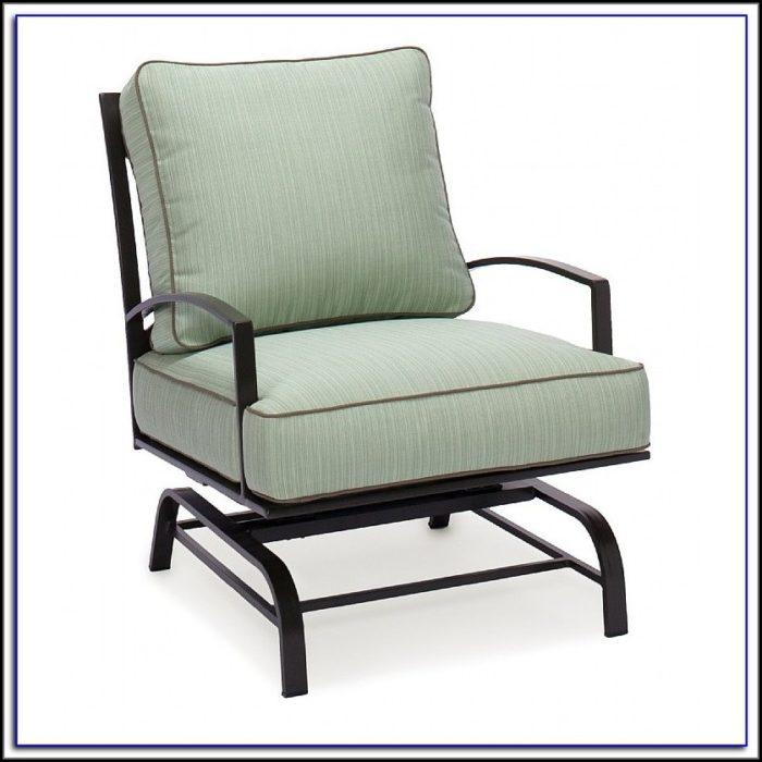 Wicker Patio Glider Chair