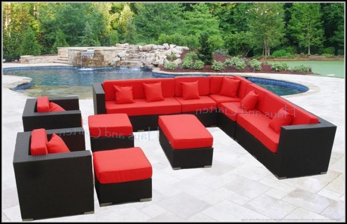 Wicker Patio Sectional Sofa