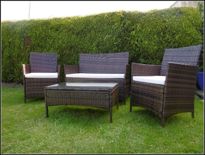 Wicker Patio Sofa Table