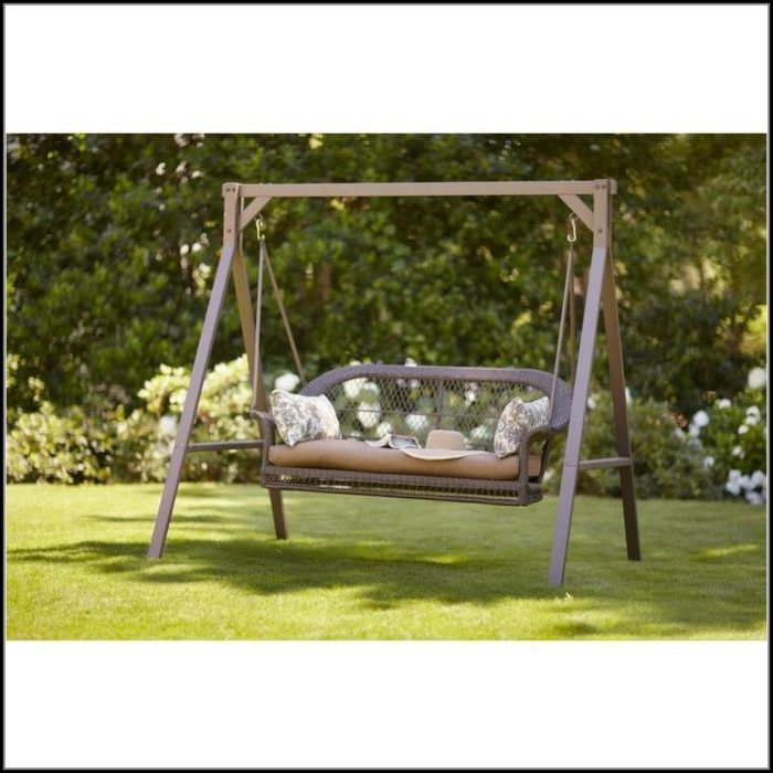 Wicker Patio Swing Home Depot
