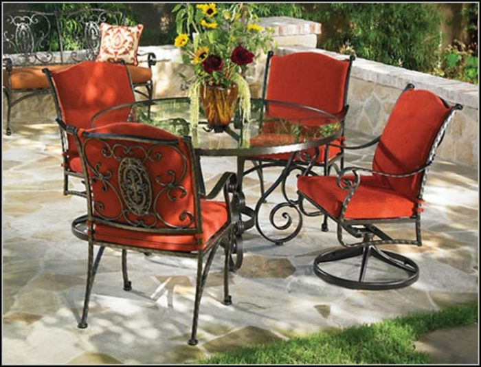 Wrought Iron Patio Chair Cushions
