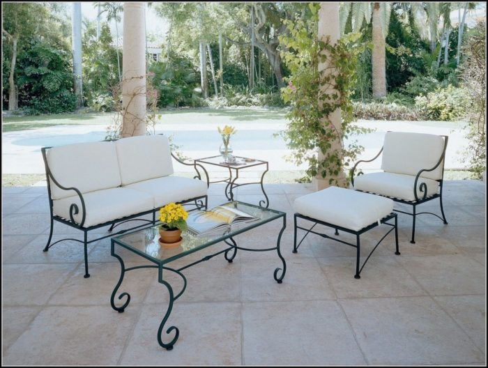 Wrought Iron Patio Furniture Cushions