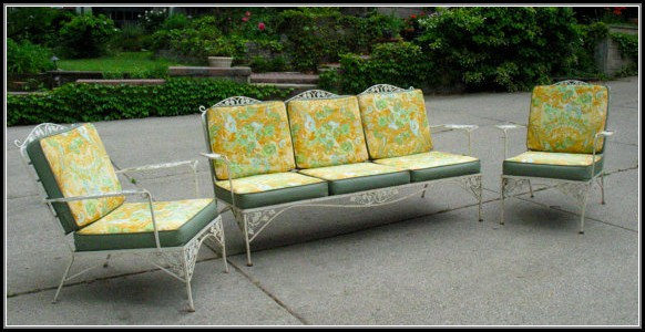 Wrought Iron Patio Furniture Vintage