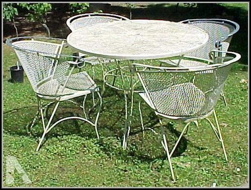 Wrought Iron Patio Set Vintage