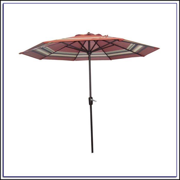 Yellow Striped Patio Umbrellas