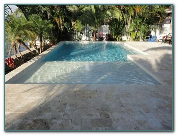 Zero Entry Fiberglass Pool