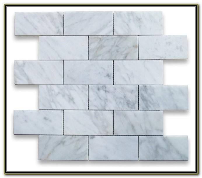 2x4 Carrara Marble Subway Tile