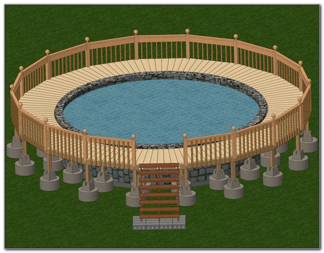 Above Ground Oval Pool Deck Designs
