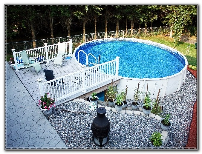 Above Ground Pool Deck And Fence Kits
