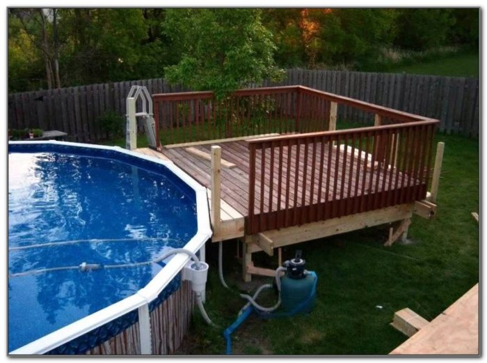 Above Ground Pool Deck Designs