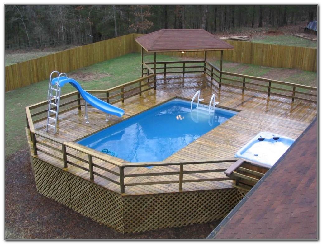 Above Ground Pool Deck Ideas Wood