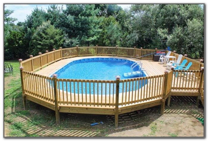 Above Ground Pool Deck Patio Designs
