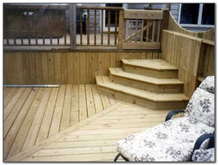 Above Ground Pool Deck Stairs