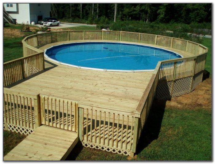 Above Ground Pool Decking Designs