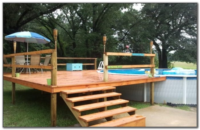 Above Ground Pool With Deck Images