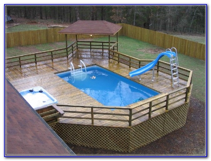Above Ground Pool Wood Deck Kits