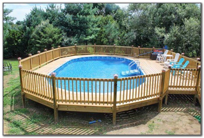Above Ground Pool Wooden Decks