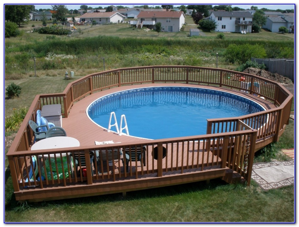 Above Ground Pools Decks Designs