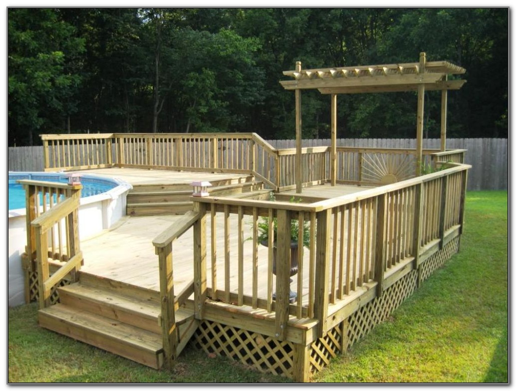 Above Ground Swimming Pool Deck Designs