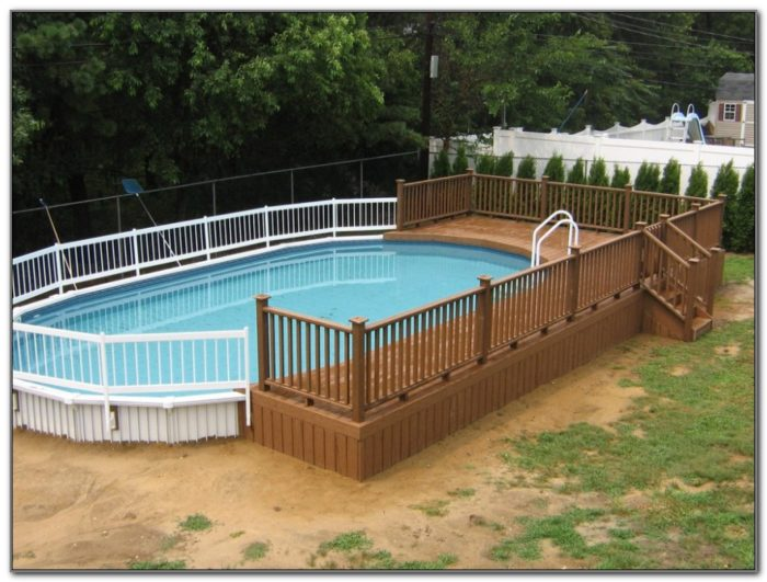 Above Ground Swimming Pool Deck Images