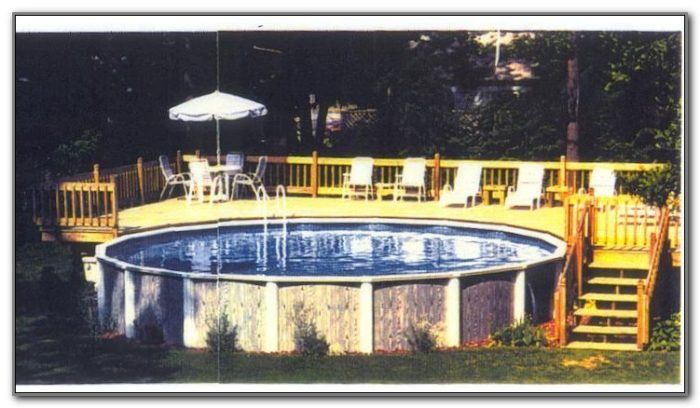 Above Ground Swimming Pool Deck Plans