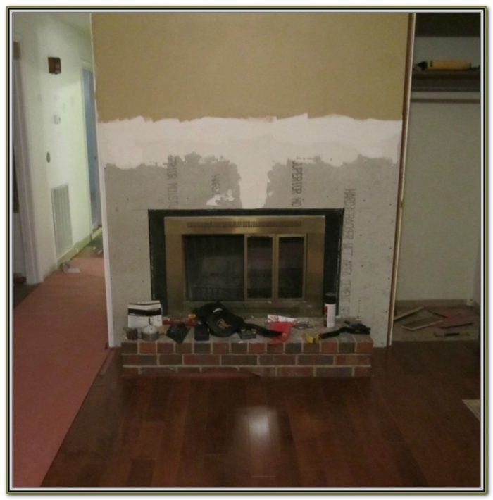 Backer Board For Tile Fireplace