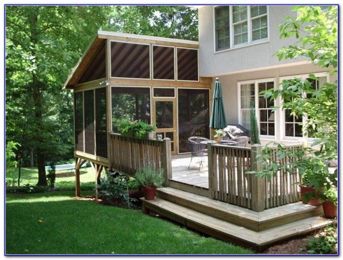 Backyard Decks With Roofs