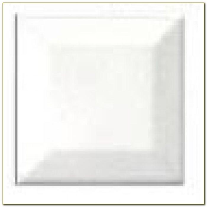Beveled Edge Subway Tile 3x6 White
