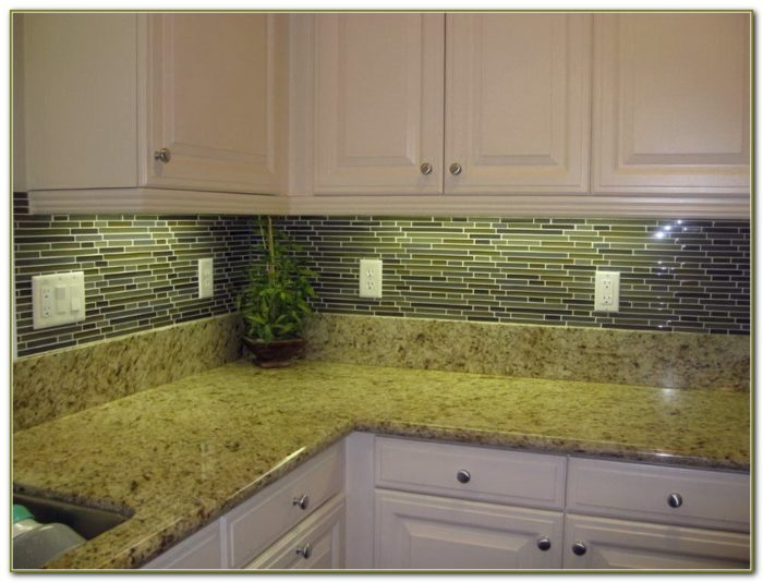 Beveled Edge Subway Tile Backsplash