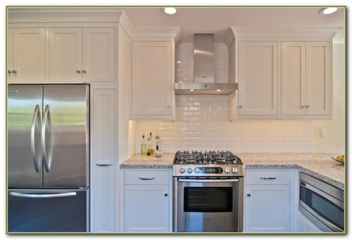 Beveled Subway Tile Kitchen Backsplash