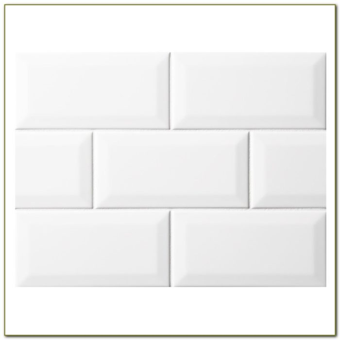 Beveled White Subway Tile
