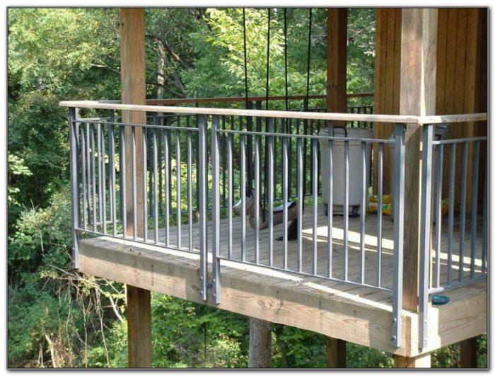 Black Aluminum Porch Railing