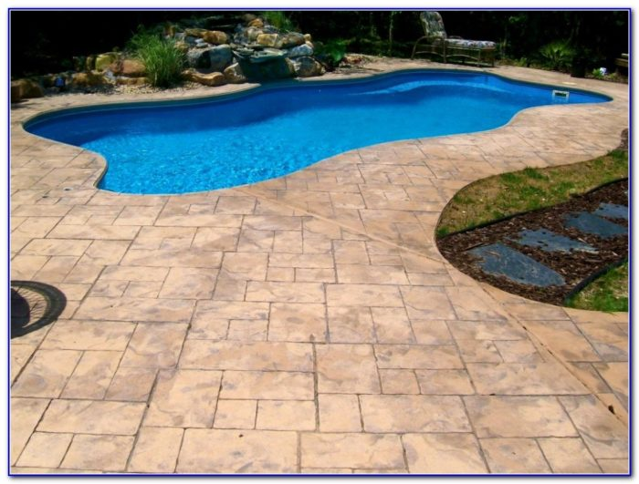 Brick Paver Pool Deck