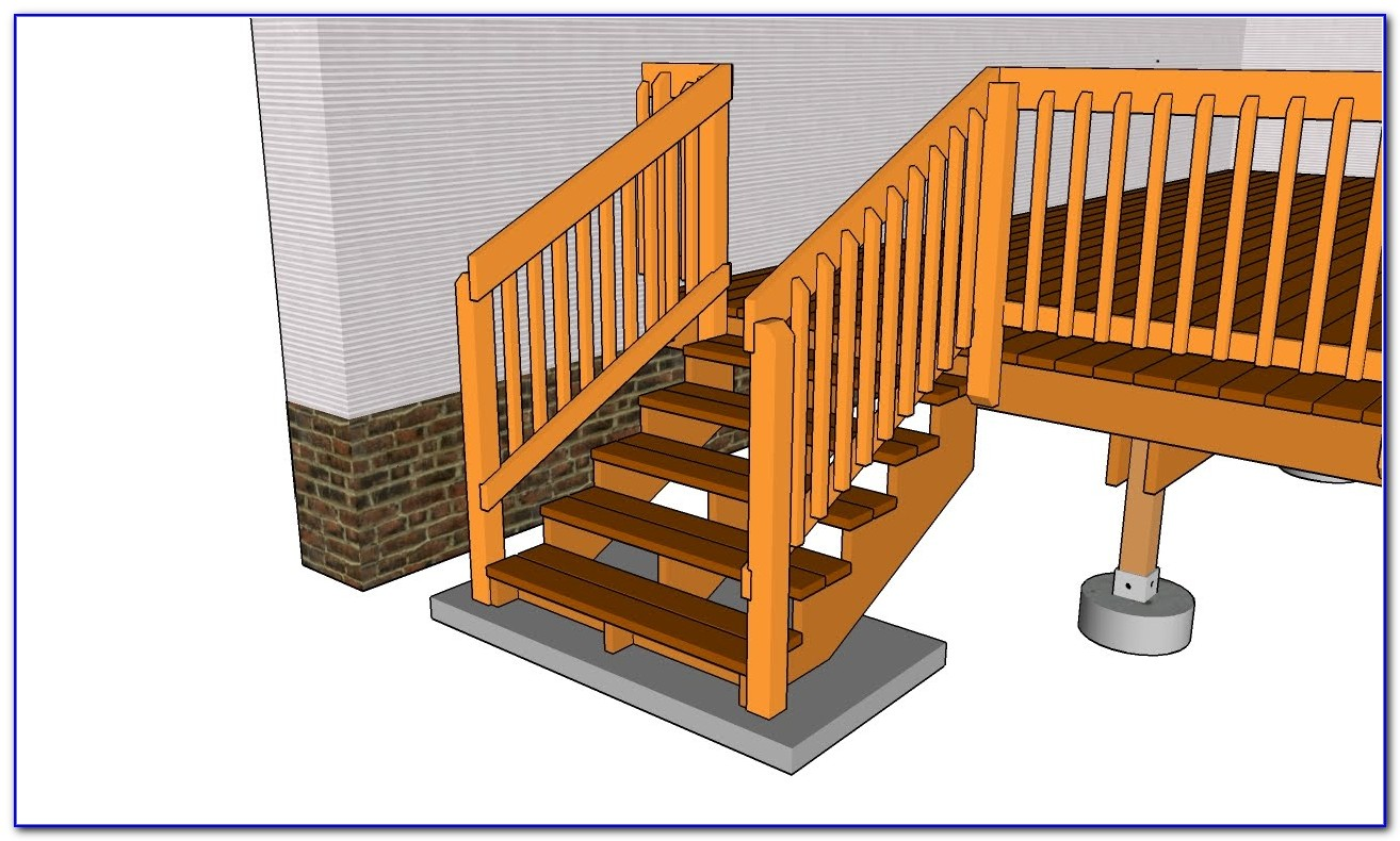 Build Deck Stair Railing