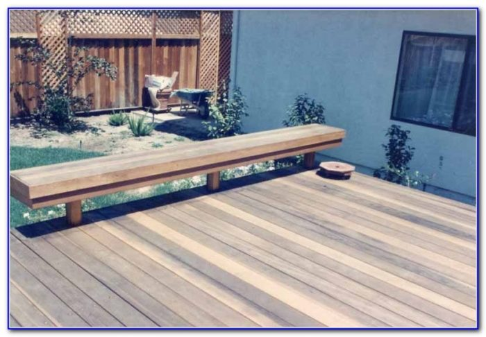Built In Deck Bench Plans
