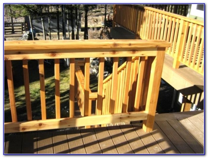 Cedar Deck Railing Systems