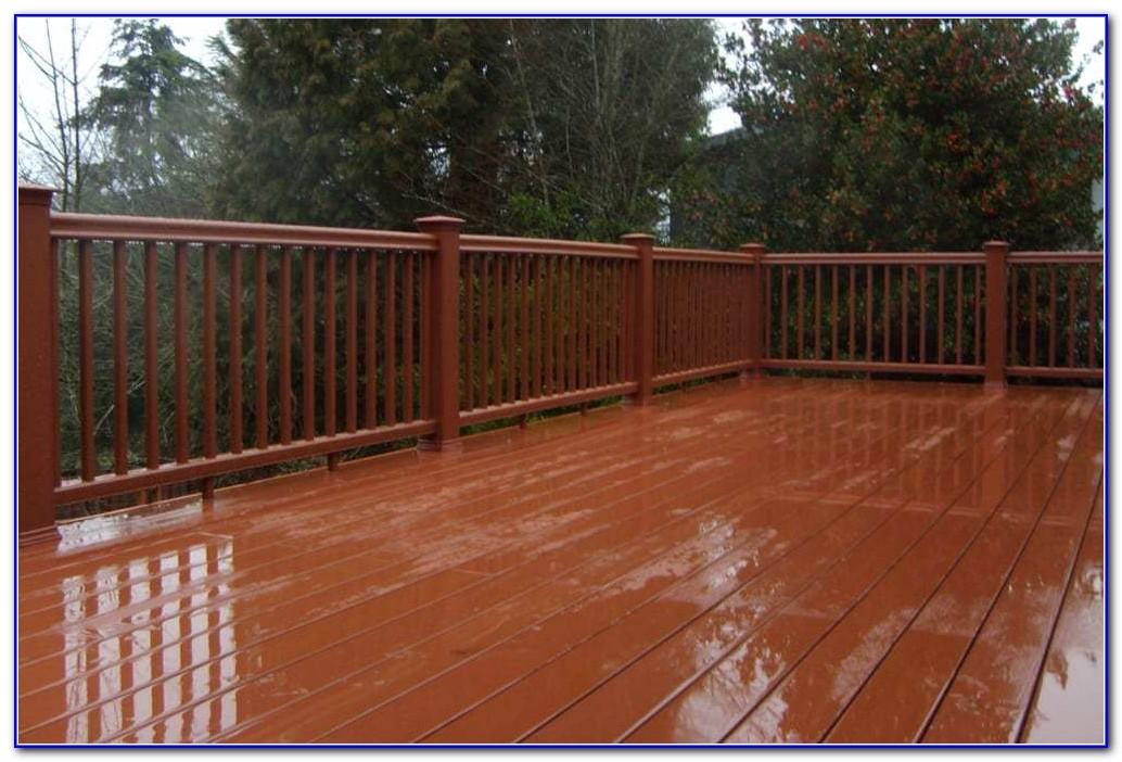 Cedar Deck With Black Railing