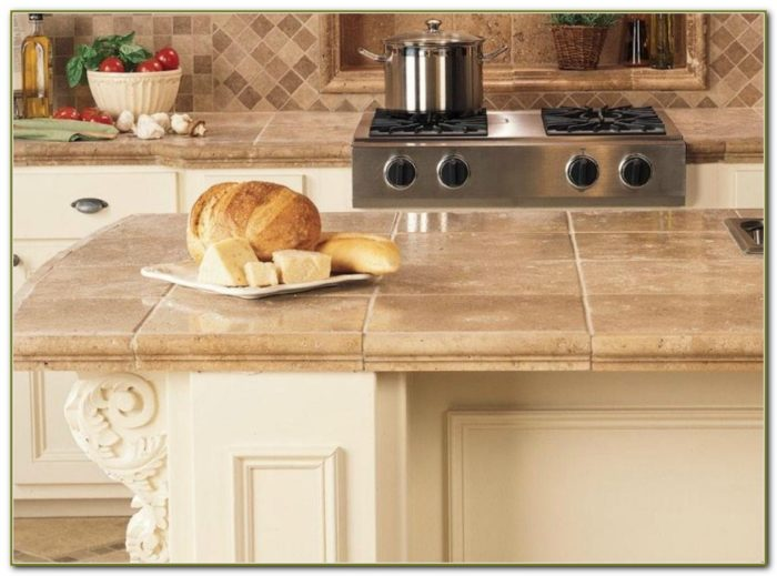Ceramic Tile Kitchen Countertops Designs