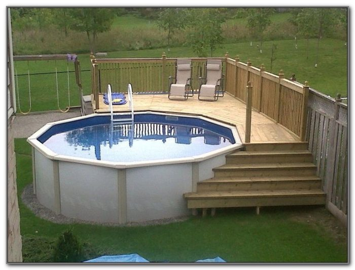 Cheap Above Ground Pool Deck Ideas