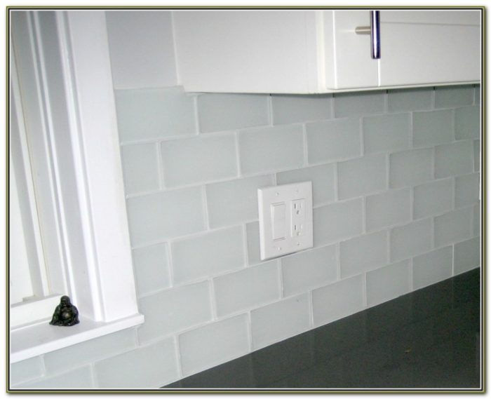Clear Glass Mosaic Tile Backsplash