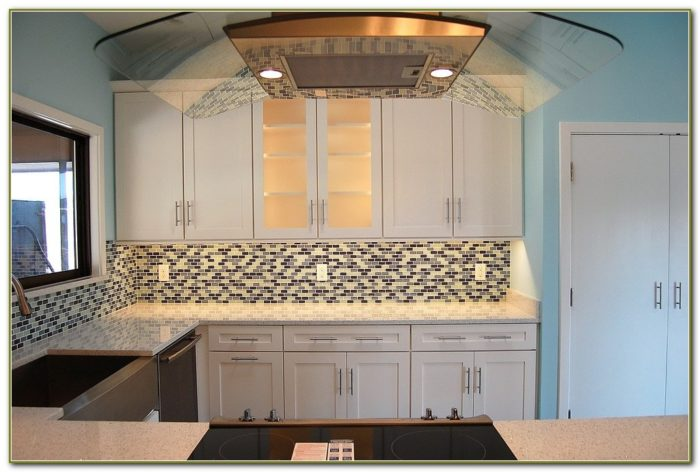Clear Glass Tile Backsplash