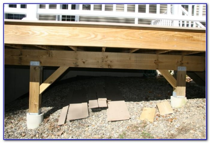 Concrete Footings For Deck