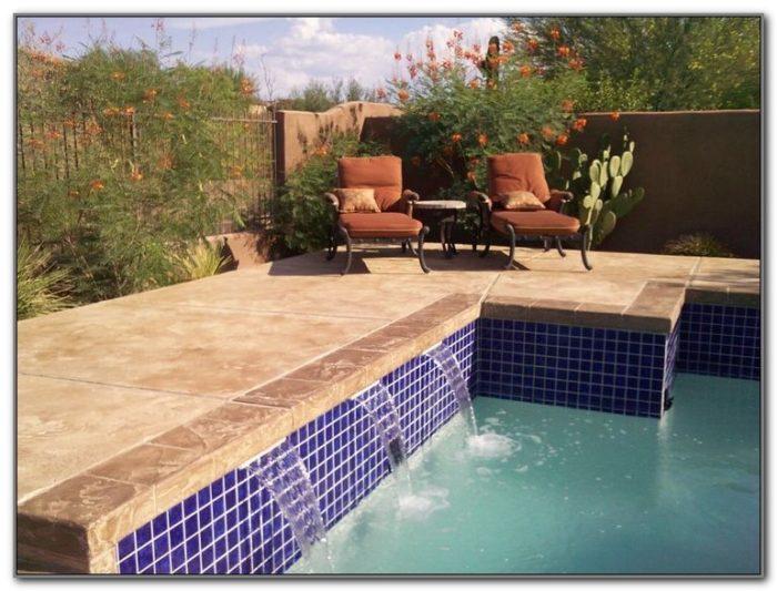 Concrete Pool Deck Acid Stain