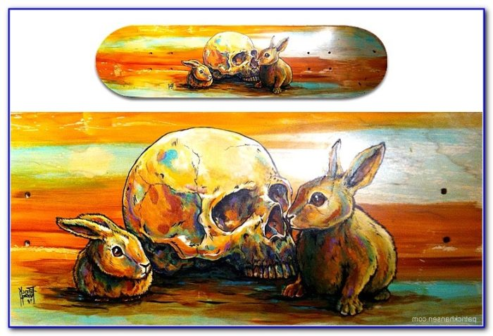 Cool Painted Skateboard Decks