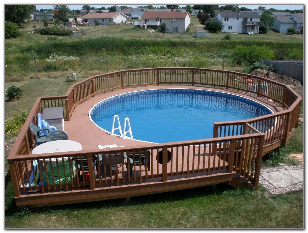 Deck Around Above Ground Pool Ideas