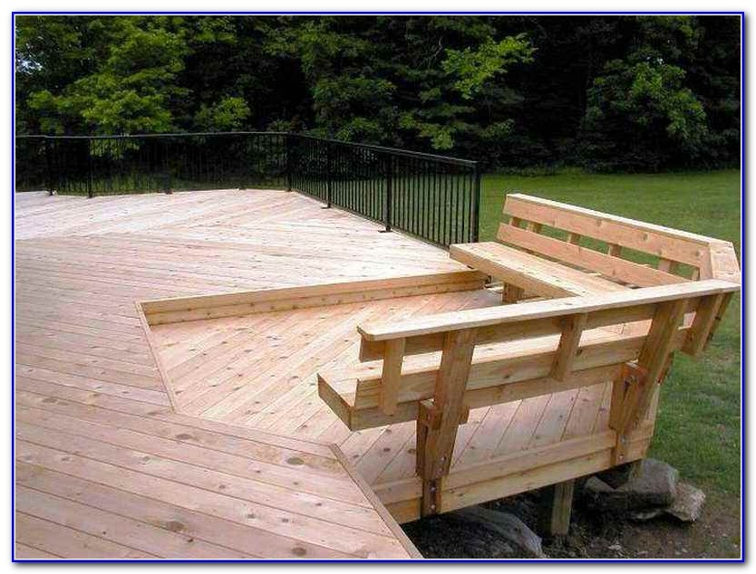 Deck Bench Seating Plans