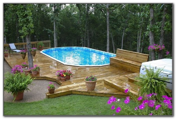 Deck Designs For Above Ground Oval Pools
