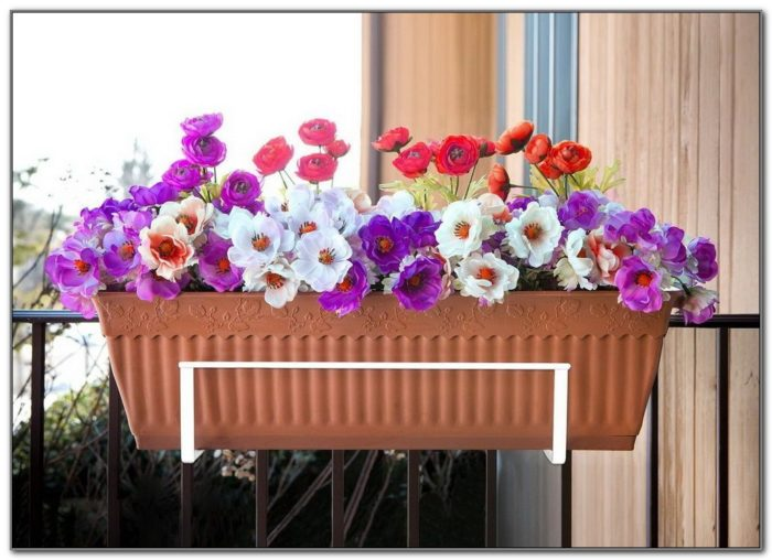 Deck Rail Flower Box Holder