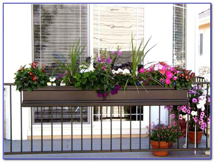 Deck Rail Planter Ideas