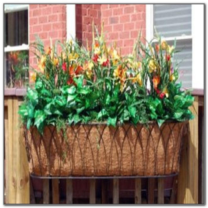 Deck Railing Flower Box Ideas